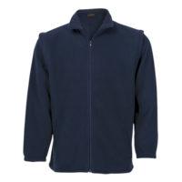 Zip of sleeves fleece jacket