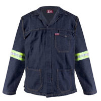 HiViz denim overall jacket