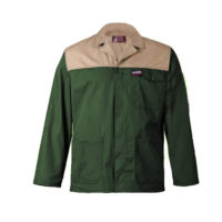 Olive and khaki two tone overall jacket